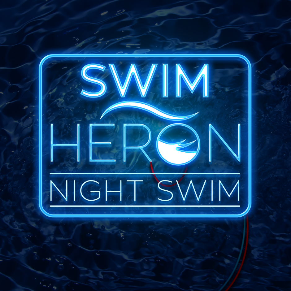 The inaugural Swim Heron Night Swim