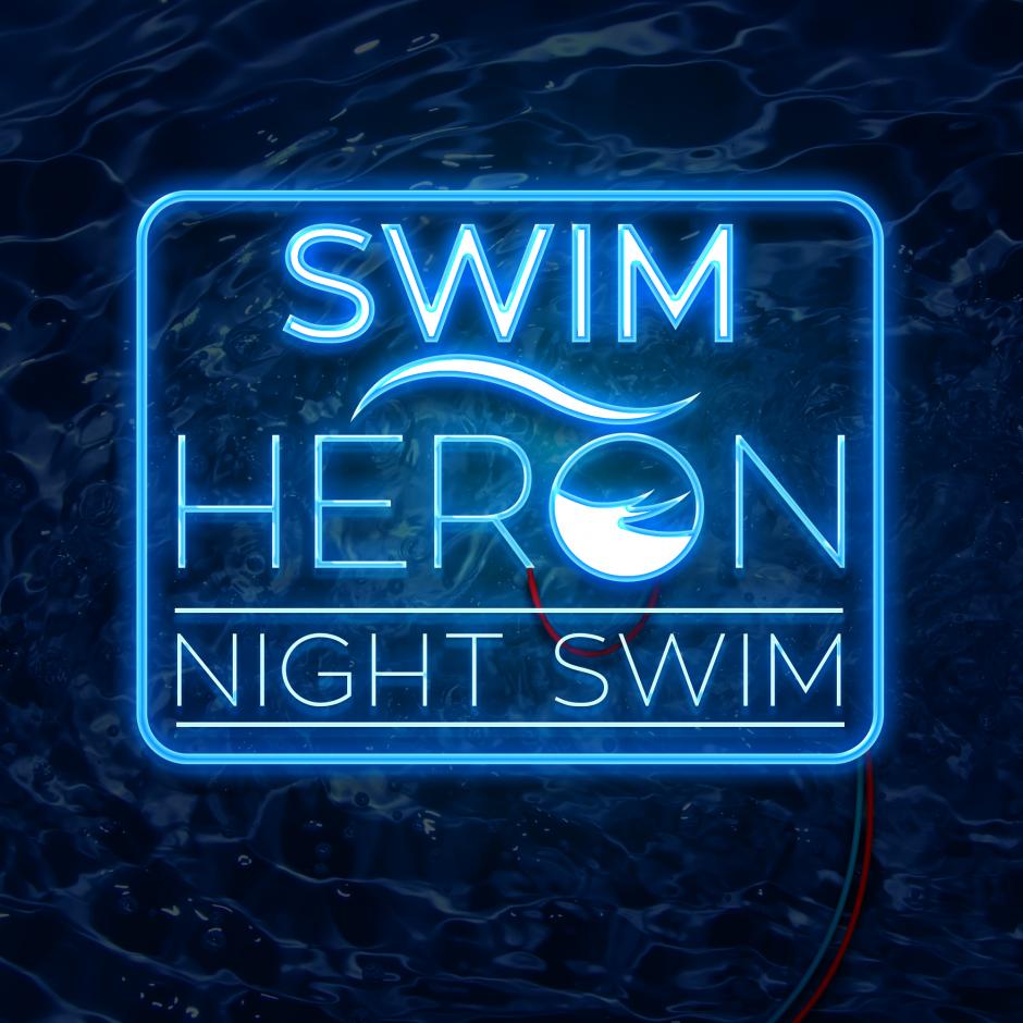 The inaugural Swim Heron Night Swim
